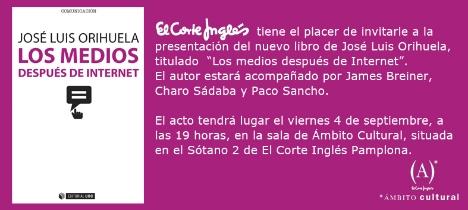 Presentación de Los medios después de internet en Pamplona